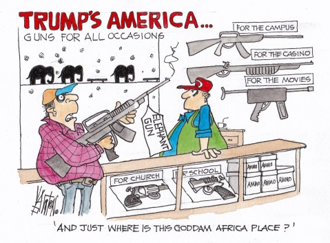 Image result for trump for guns cartoons